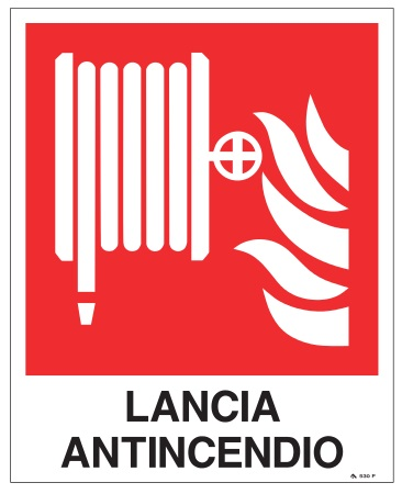 CARTELLO ALL. LANCIA ANTINCENDIO NASPO
