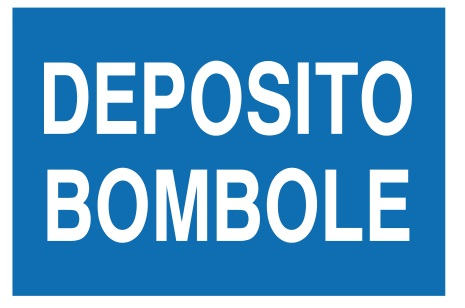 CARTELLO ALL. DEPOSITO BOMBOLE