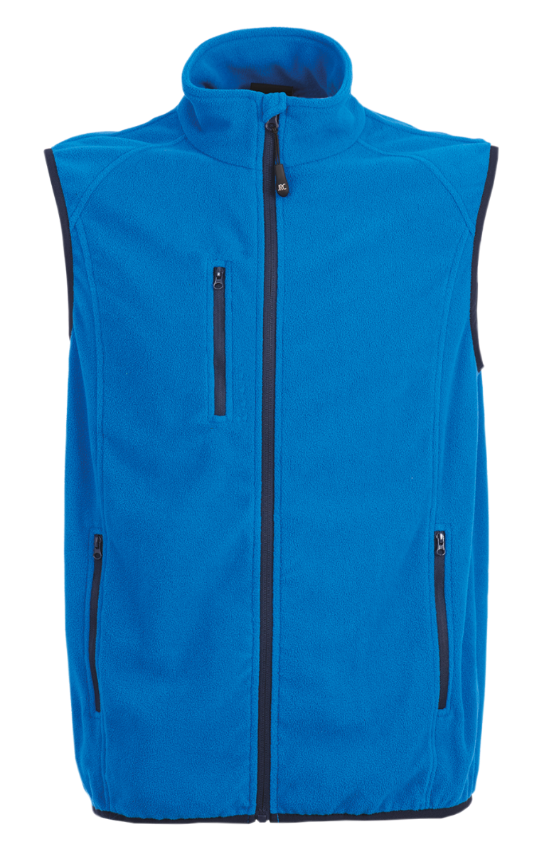 GILET MULTITASCHE BLU ROYAL MICROPILE